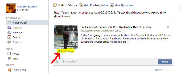 Now Facebook Page Admin able to Upload CustomThumbnail Image for